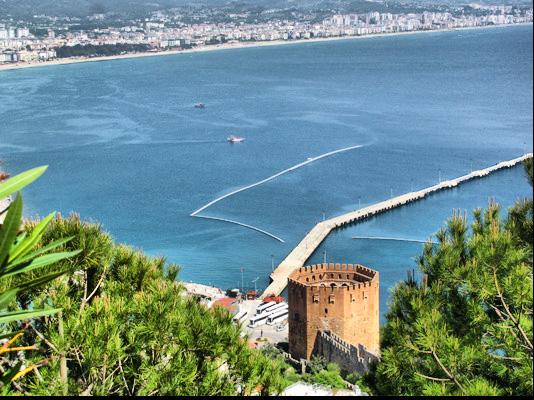 Турция Алания морская бухта-порт